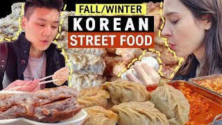 Fall & Winter KOREAN STREET FOOD | 캐나다 아내의 최고 겨울철 길거리 음식은?