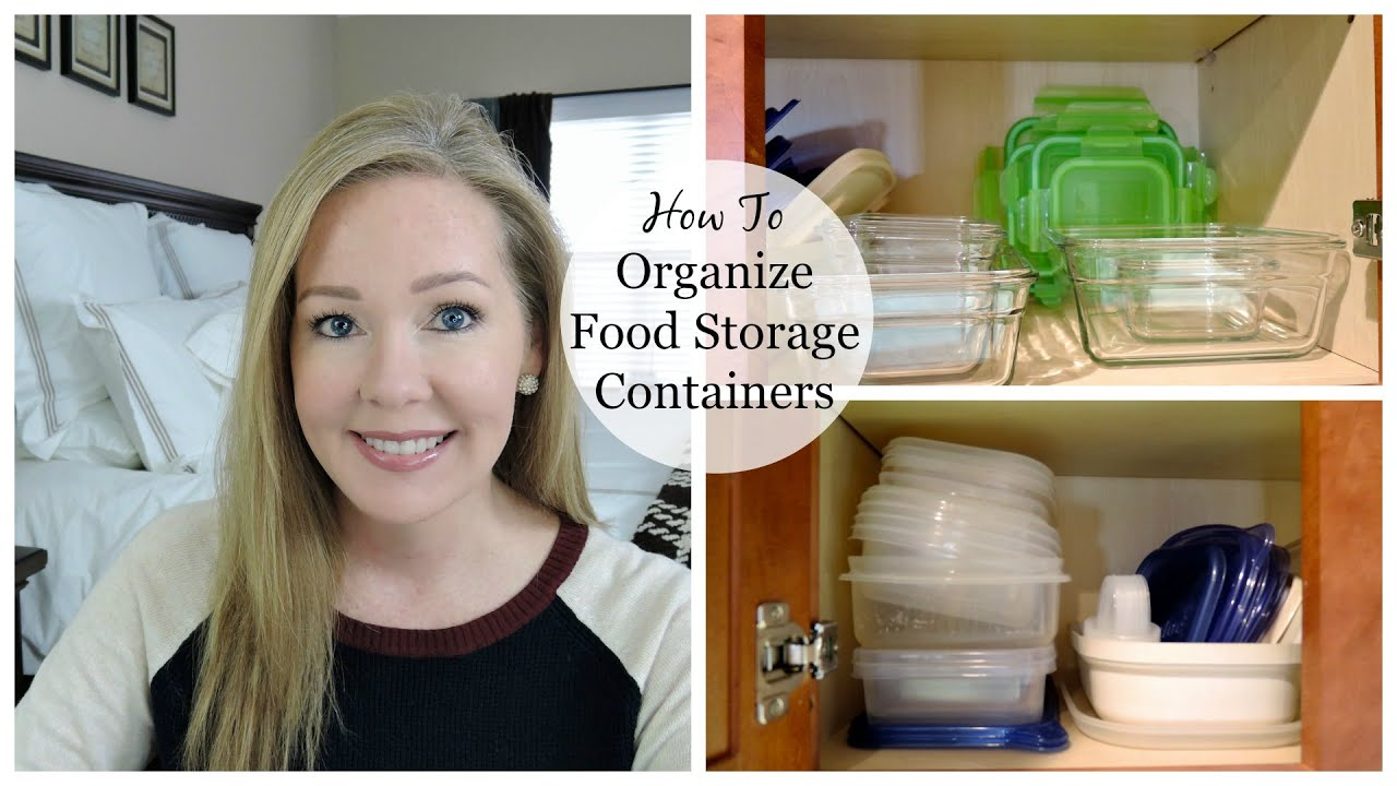 HOW TO Organize Food Storage Containers YouTube