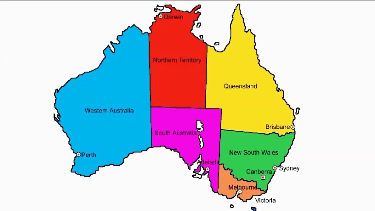 How To Draw Map Of Australia - YouTube