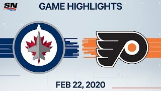 NHL Highlights | Flyers vs. Jets - Feb. 22, 2020