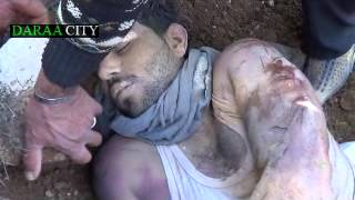درعا البلد 14\1\2013 جثة مجهولة الهوية