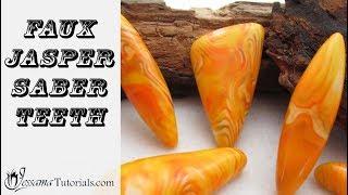 Polymer Clay Project: Faux Jasper Saber Teeth