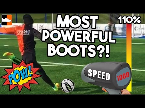 Most POWERFUL Boot?! Power Kicking Test