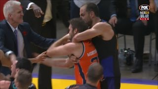 SYDNEY KINGS v CAIRNS TAIPANS ON COURT FIGHT