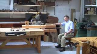 Foster Workbench - Using The  Foster Chair Vise© As A Shave Horse For Green Wood Furniture