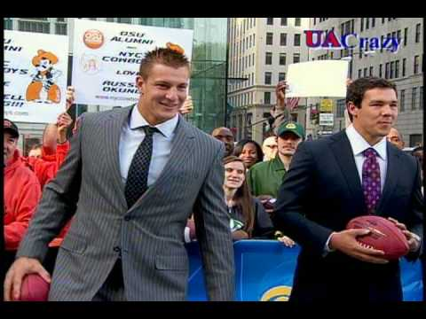 Rob Gronkowski Pre Draft Appearance On Cbs The Early Show With Harry Smith And Dave Price