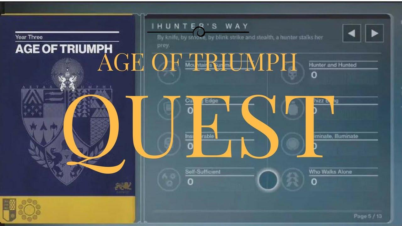 destiny: age of triumph quest! reward(__ of legends) - youtube