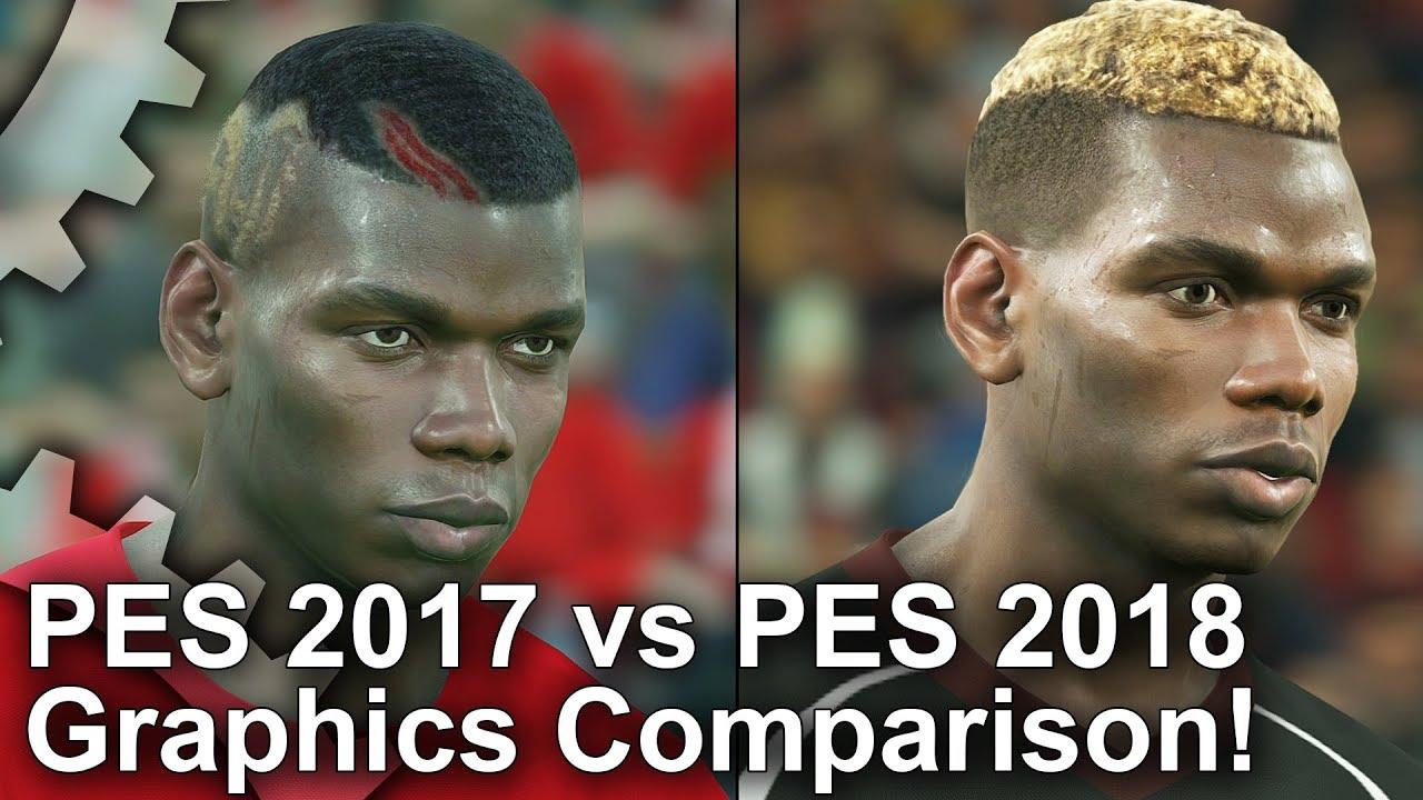 PES 2017 vs 2018 Graphics Comparison