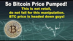Bitcoin price pumped! This Is not retail, don't fall for this manipulation, BTC price is headed down