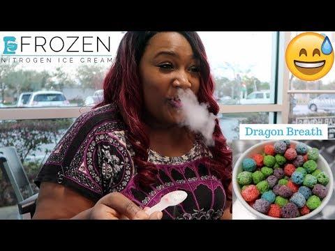 FROZEN LIQUID NITROGEN ICE CREAM | DRAGON BREATH BALLS