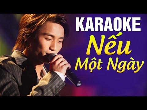 [Karaoke] Nếu Một Ngày - ĐAN NGUYÊN | Beat Chuẩn Tone Nam