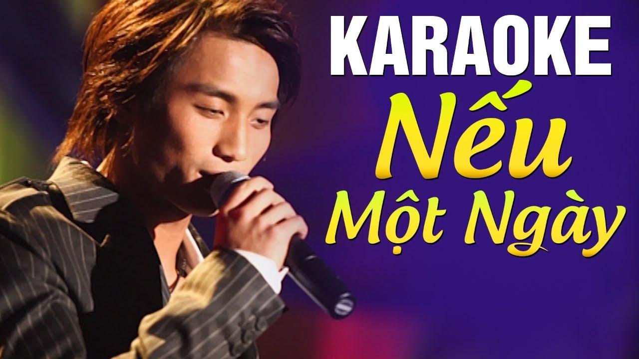 [Karaoke] Nếu Một Ngày – ĐAN NGUYÊN | Beat Chuẩn Tone Nam
