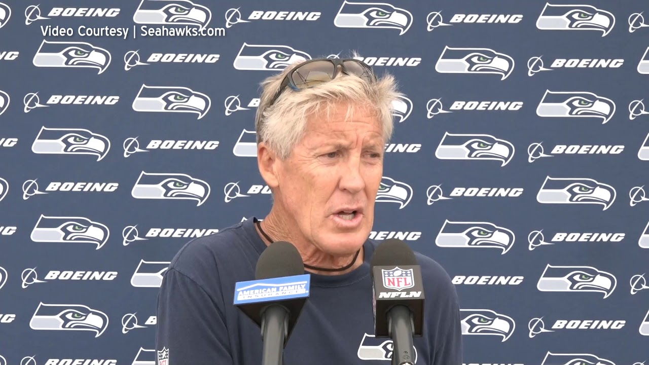 Pete Carroll on Rookie Play 2019-08-07
