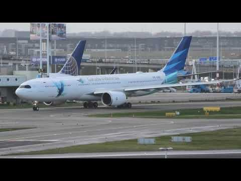 First Visit Airbus A330-900Neo Of Garuda Indonesia At Schiphol, Amsterdam (EHAM)