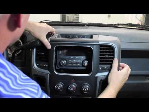 2013-2015 Ram Truck Radio Removal