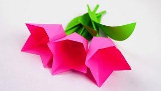 простой цветок из бумаги ЛЕГКО И ПРОСТО