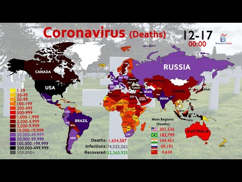 Map Timelapse Of Coronavirus (COVID-19) Deaths: Year Of 2020
