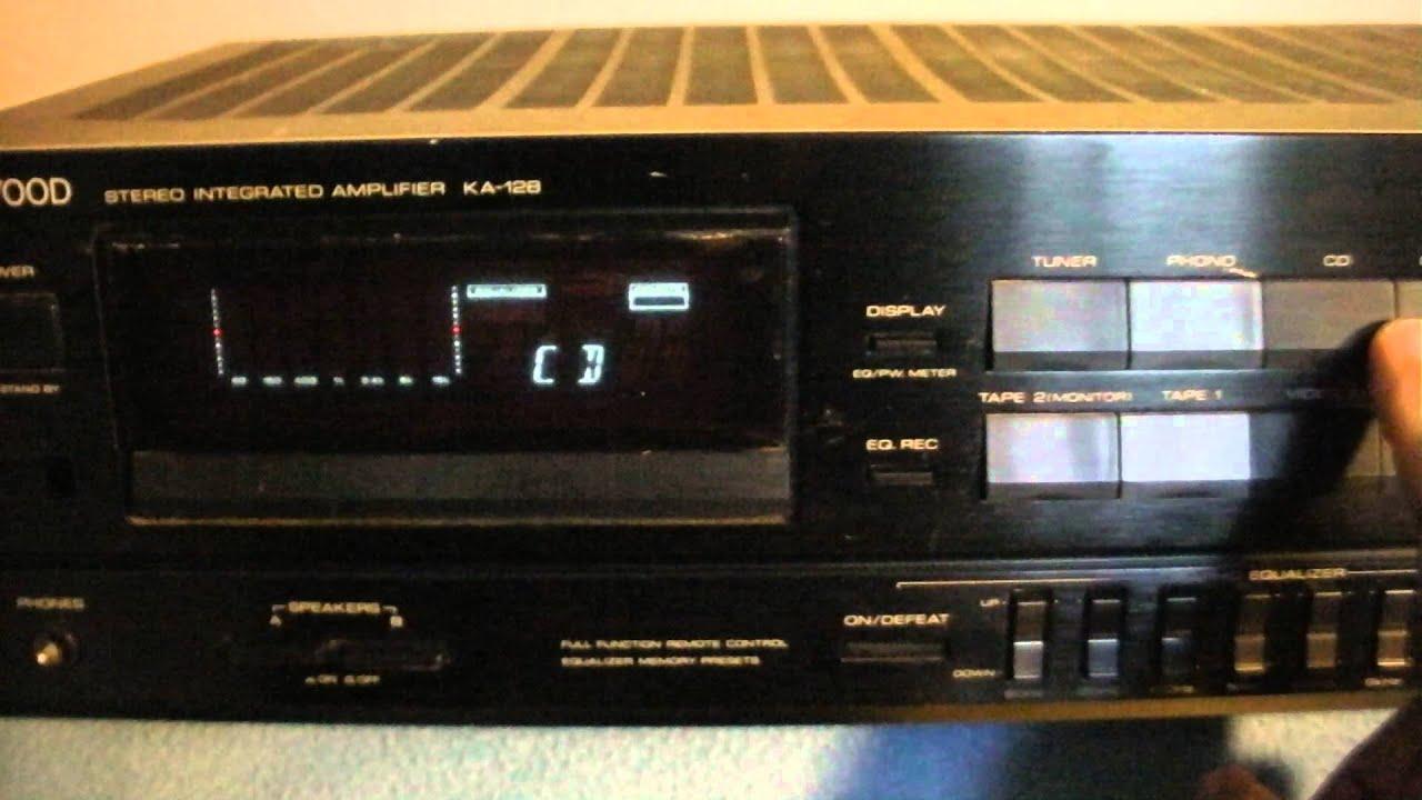 kenwood ka 128 stereo integrated amplifier 00130677 youtube rh youtube com Kenwood Integrated Amplifier Kenwood KA 3500 Specs