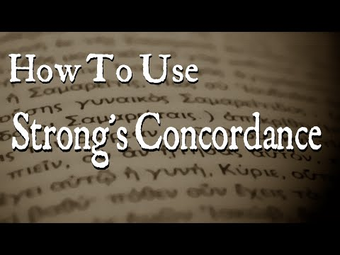 How To Use Strong S Concordance YouTube