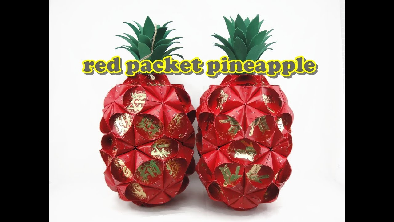 Red Packet Craft Pineapple Lantern Youtube
