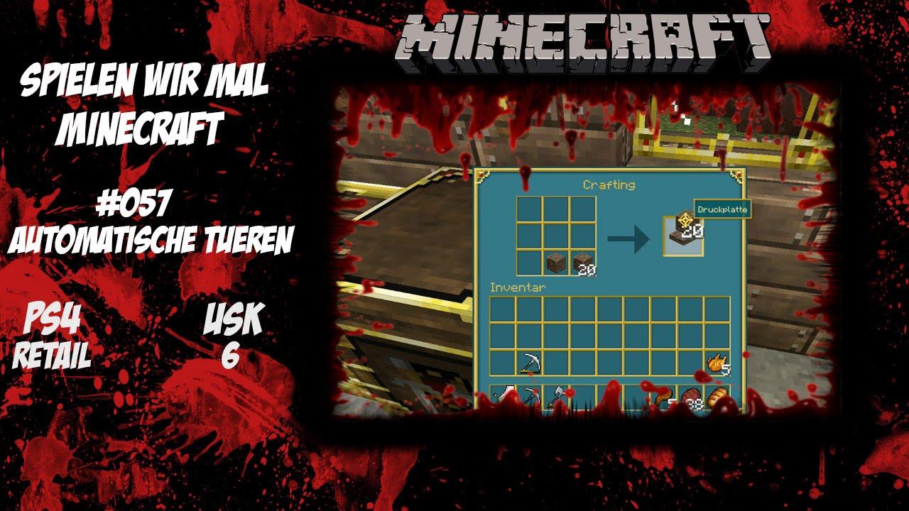 Minecraft Automatische Türen Spielen Wir Mal Lets Play - Minecraft mit tieren spielen