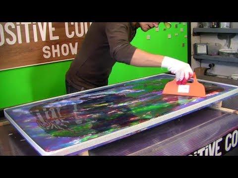 видео: acrylic painting technique. restoration of the table. Реставрация стола.