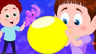 Blowing Balloons | Schoolies | Fun Videos For Toddlers | Cartoons For Children by Kids Channel