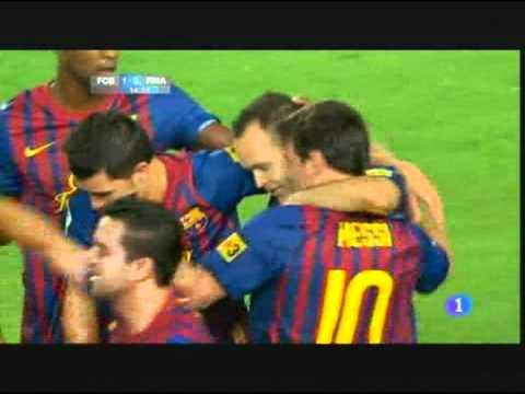 iniesta goal-Super cup spain- barcelona vs real madrid-17/08/2011-Supercopa-gol de iniesta