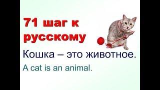 Собака - это не человек.  Русский как иностранный. 71 шаг к русскому языку 10 урок