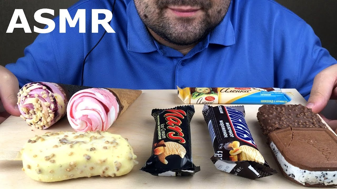 Asmr Assorted Ice Cream Party Treats Eating Sounds Eating Show No Talking
