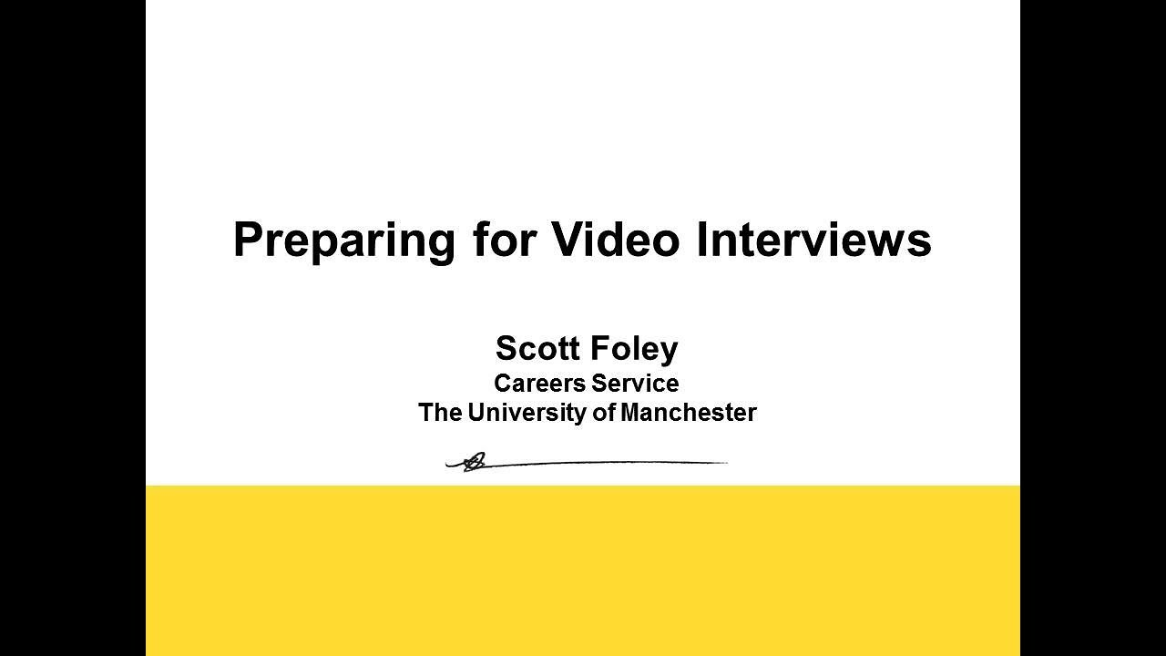 Interviews (The University of Manchester)