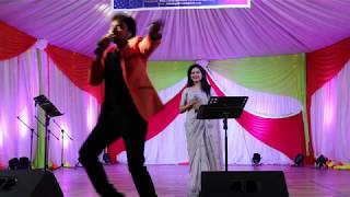 Mallikarjun and Sunitha Energetic Performance|SATeluguEvents|Brilliance Star Entertainments