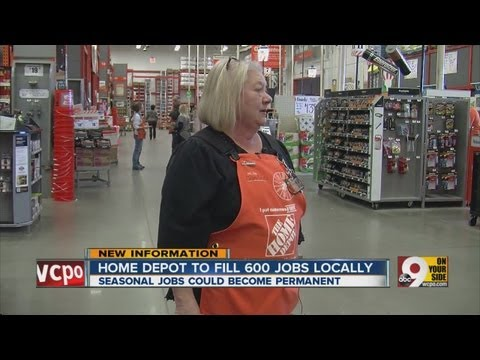 Hundreds of Home Depot jobs coming