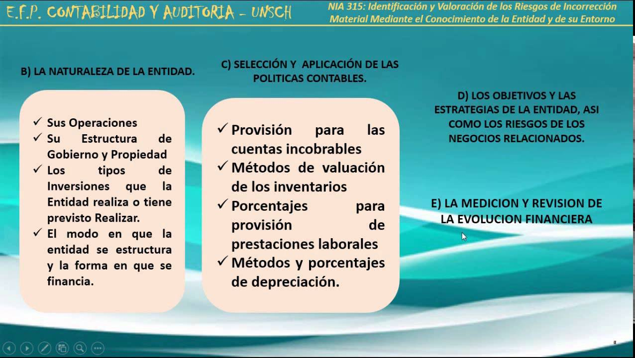 Norma Internacional de Auditoria 315 - NIA 315 - YouTube
