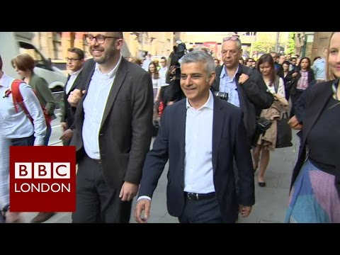 London Mayor Sadiq Khan - first official day at City Hall