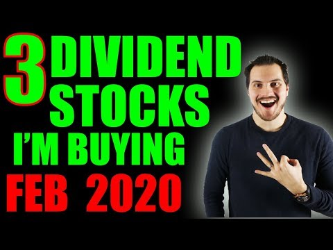 3 Dividend Stocks I'm Buying Now! February 2020