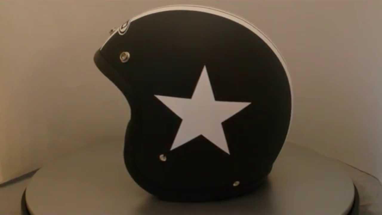 dmd vintage star black schwarzmatter jethelm mit. Black Bedroom Furniture Sets. Home Design Ideas