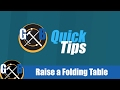 Increase the Height of a Folding Table with this Hack :: Quick Tips