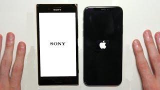 iPhone X vs Sony Xperia XZ Premium Speed Test & Camera Comparison!