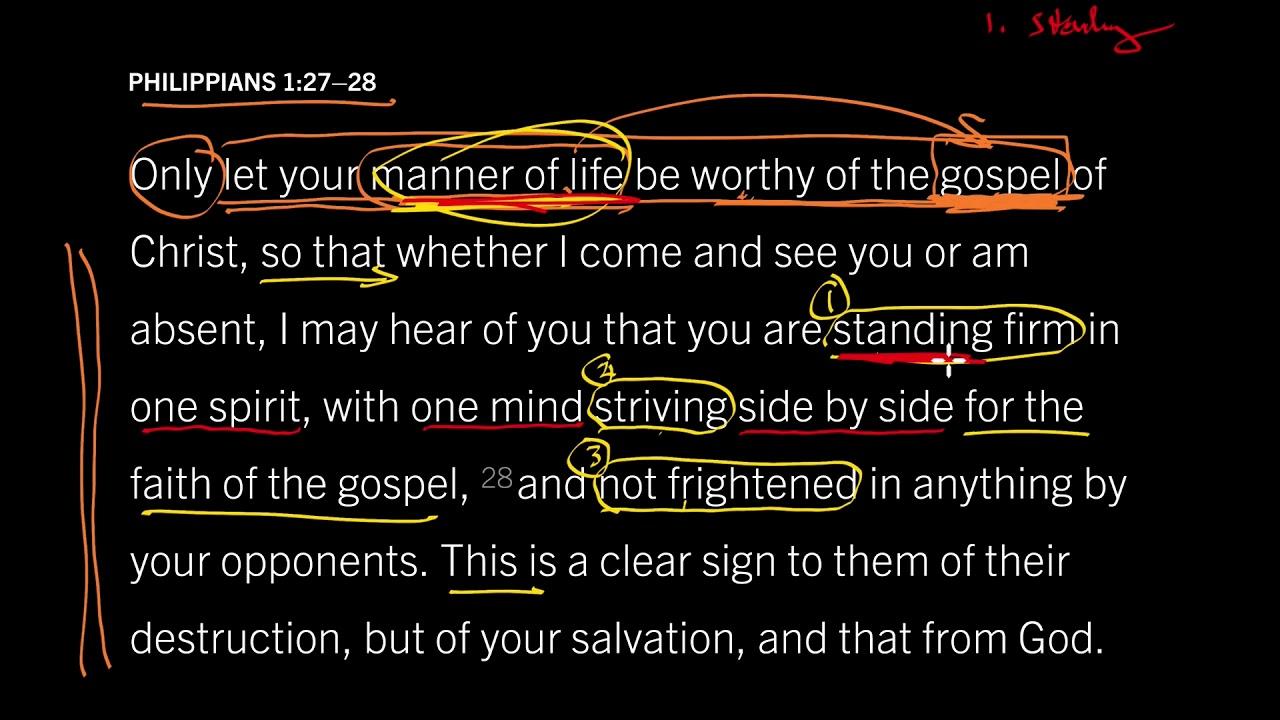 Philippians 1 27 U201328      Four Traits Of A Life Worth Living