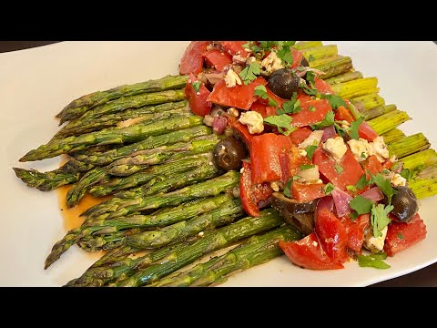 ROASTED ASPARAGUS With MARINATED RED BELL PEPPERS