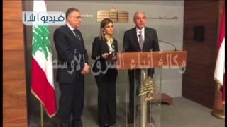 بالفيديو لقاء وزيري الصناعة والتجارة والتعاون الدولي برئيس الوزراء اللبناني تمام سلام بحضور السفير