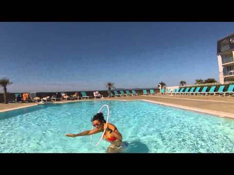 Wonder Woman Hula Hoop In Swimming Pool Youtube
