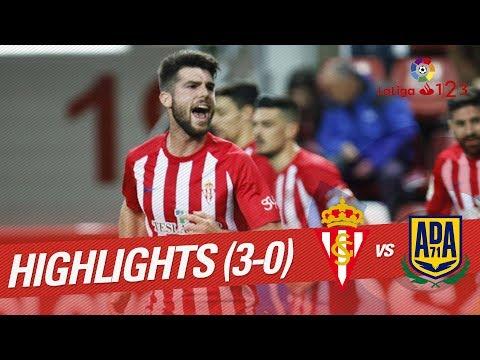 Resumen de Sporting de Gijón vs AD Alcorcón (3-0)