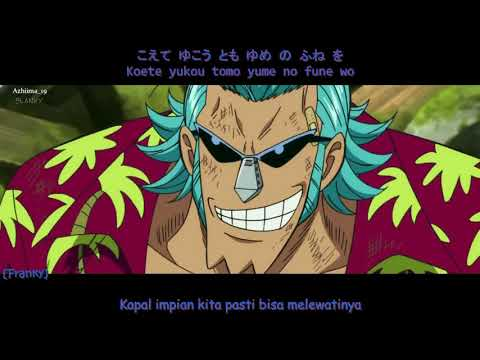 [Lagu all nakama untuk Luffy!!] One Piece - There Is No Shape Of Dream (Lyrics+ Subtitle Indonesia)