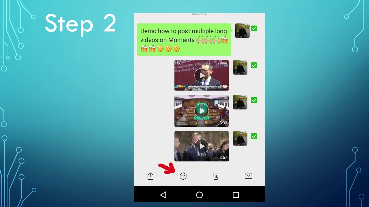 WeChat 01: Post multiple long videos on WeChat Moments in one-shot