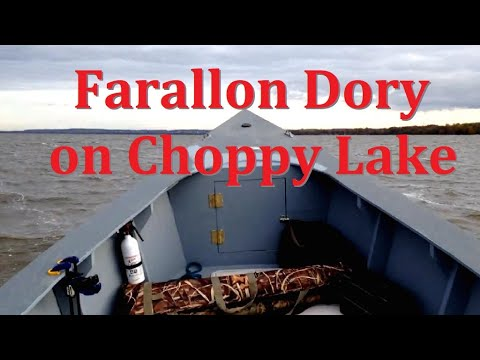 23' Farallon Offshore Power Dory on choppy Northern Lake in
