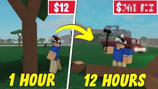 I Grinded 12 Hours NONSTOP of LUMBER TYCOON 2 & Made $___