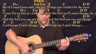 Freebird - Strum Guitar Cover Lesson with Chords/Lyrics