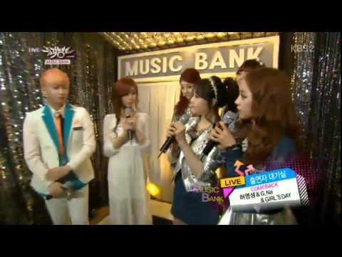130315 Musicbank Girl's Day & G.NA comeback Waiting room